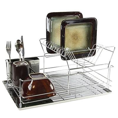 """""Mega Chef 15 1/2"""""""" Stainless Iron Shelf Dish Rack, Chrome Plated (94396414M)"""""" 2491616"
