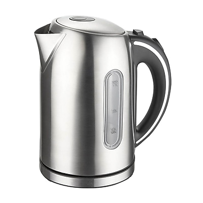 Mega Chef Stainless Steel Electric Tea Kettle,1.7 Liter, Silver (97096264M)