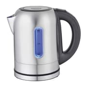 Mega Chef Stainless Steel Electric Tea Kettle with 5 Preset Temperature, 1.7 ltr, Black/Silver (97096274M)