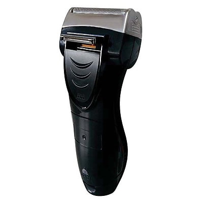 Pursonic® Battery Operated Dual Foil Shaver with Pop Up Trimmer, Black (BSF200)