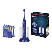 Pursonic® S420 High Power Rechargeable Sonic Toothbrush with 12 Brush Heads/Storage Charger, Blue (S420BE)