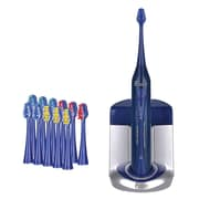 Pursonic® Deluxe Plus Sonic Rechargeable Toothbrush with 12 Brush Heads/UV Sanitizer, Blue (S450BE)