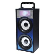 QFX® BT-139 5 W Portable Multimedia Bluetooth Speaker with FM Radio, Blue