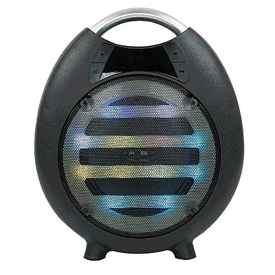 QFX® PBX-2100 6.4 W Bluetooth Rechargeable Party Speaker, Black