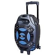 QFX® PBX-61081 2600 W Portable Tailgate Bluetooth Speaker, Black/Blue