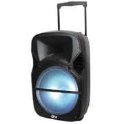 QFX® PBX-61125 2600 W Portable Battery Powered Bluetooth Party Speaker, Black