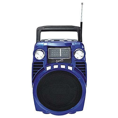 Supersonic® SC-1390BT IQ Sound® Bluetooth 4-Band Portable Radio, Blue