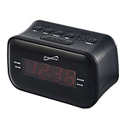 "Supersonic® Bluetooth Clock Radio with 0.9"" Display, Black (SC-378BT)"