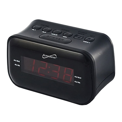 Supersonic® Bluetooth Clock Radio with 0.9