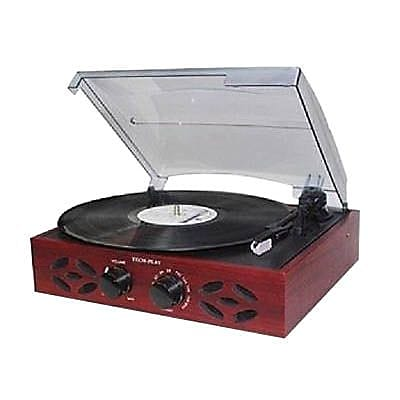 Techplay Retro Classic 3-Speed Turntable with FM Radio, Wood (ODC15 )