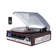 Techplay 3-Speed Turntable with SD USB/MP3 Encoding System, Wood (ODC17 WD)