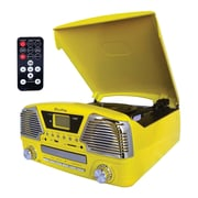 Techplay 3-Speed Turntable with Programmable MP3/CD Player, Yellow (ODC35-YL)