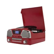 Techplay 3-Speed Turntable with Programmable MP3/CD Player, Red (ODC35-RD)