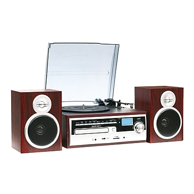 Techplay 3-Speed Classic Retro Turntable, Wood (ODC38WD