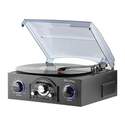 Techplay 3-Speed Stereo Turntable with AM/FM Radio, Black (TCP5BLK)