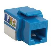 4XEM™ Cat6 RJ45 UTP 110-Type Keystone Jack, Blue (4XKJC6BL)