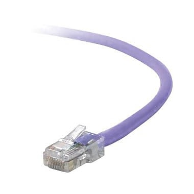Belkin™ A3L791 4' Purple RJ-45 to RJ-45 Male/Male Cat5e UTP Ethernet Patch Cable