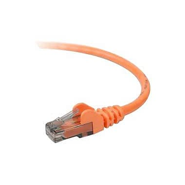 Belkin™ A3L980 1' Orange RJ-45 to RJ-45 Male/Male Cat6 Snagless Ethernet Patch Cable