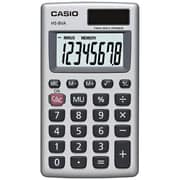 Casio® Battery/Solar Powered Handheld Basic Calculator, Silver (HS-8VA)