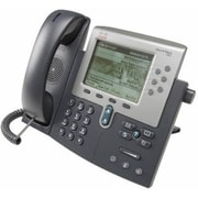 Cisco™ 7962G 6 Line Unified Refurbished IP Phone, Dark Gray