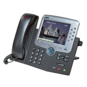 Cisco™ CP-7970G-RF 8 x Total Line Refurbished Unified IP Phone, Dark Gray/Silver