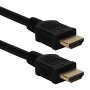QVS® HDG-1MC 3.3' HDMI Male/Male High Speed Audio/Video Cable, Black