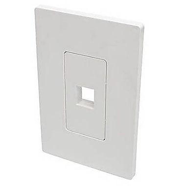 Tripp Lite Polycarbonate 1 Port Single-Gang Universal Keystone Wallplate, White (N080-101)