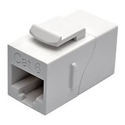 Tripp Lite Polycarbonate Cat6 Straight-Through Modular In-Line Snap-In Coupler, White (N235-001-WH)