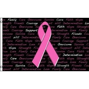FlagsImporter Breast Cancer Inscriptions Traditional Flag
