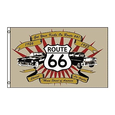 FlagsImporter Route 66 (Cars) Traditional Flag