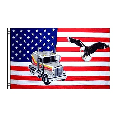 FlagsImporter USA Truck Eagle Traditional Flag