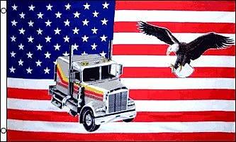 FlagsImporter USA Truck Eagle Traditional Flag