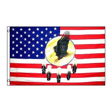 FlagsImporter USA Dream Catcher Eagle Traditional Flag