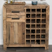 Loon Peak Needham 28 Bottle Floor Wine Cabinet; Natural
