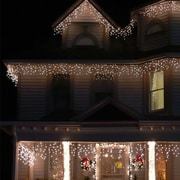 The Holiday Aisle Icelite 110 Solar Icicle String Lights