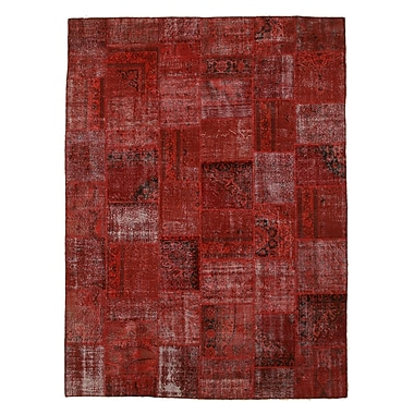 Eastern Rugs Turkish Hand-Knotted Red Area Rug