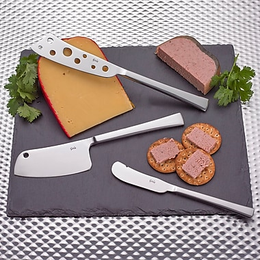 Gela Global 3 Piece Cheese Knives/Board Set