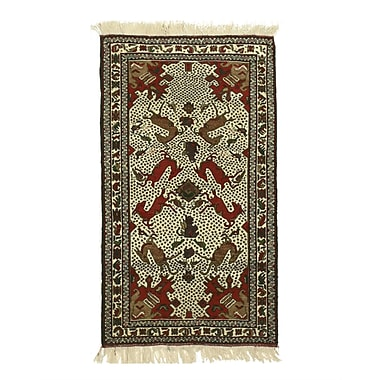 Eastern Rugs Baluchi Hand-Knotted Ivory Area Rug