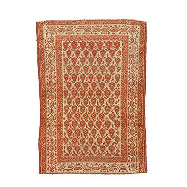 Eastern Rugs Malayer Hand-Knotted Rust Area Rug