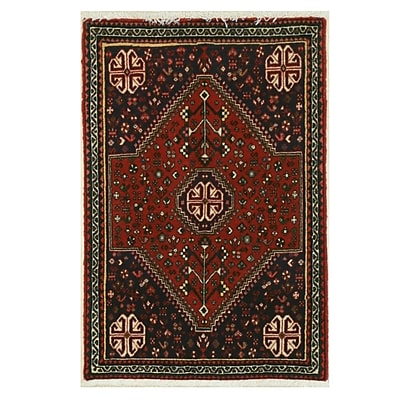 Eastern Rugs Abadeh Hand-Knotted Rust Area Rug
