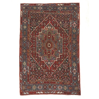 Eastern Rugs Gholtogh Hand-Knotted Red/Blue Area Rug
