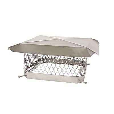 Shelter ShelterPro Stainless Steel Chimney Cap; 7.75''