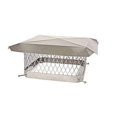 Shelter ShelterPro Stainless Steel Chimney Cap; 7.75'' H x 18'' W x 13'' D