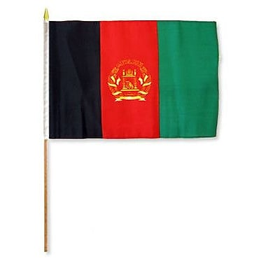 FlagsImporter Afghanistan Traditional Flag and Flagpole Set (Set of 12)