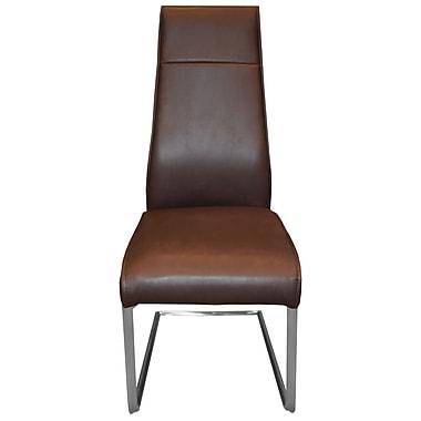 RMGFineImports Kassandra Side Chair (Set of 2); Dark Brown