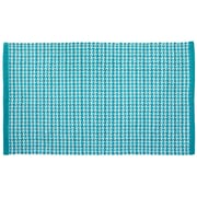 HFLT Tattersall Plaid Hand-Woven Teal Area Rug