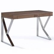 RMGFineImports Cressida Writing Desk w/ 2 Drawers; Walnut