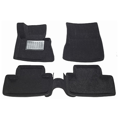 Findway – Tapis de plancher 3D 09050BB pour BMW X3 2004-2010, noir, anglais