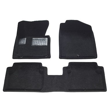 Findway – Tapis de plancher 3D 28220BB pour Hyundai Elantra berline 2014-2016, noir, anglais