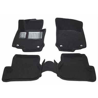 Findway – Tapis 3D 63200BB pour Volkswagen Golf GTI 2009-2013, Golf R 2012-2013 et Golf Sportwagon 2010-2014, noir, anglais